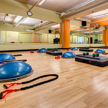 Our fitness class rooms for group fitness classes in our Denver, Colorado gym.