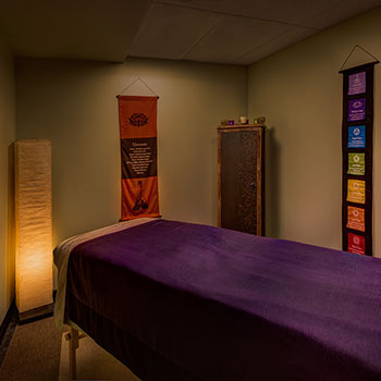 Our facilities include a massage room in our Denver, Colorado athletic club.