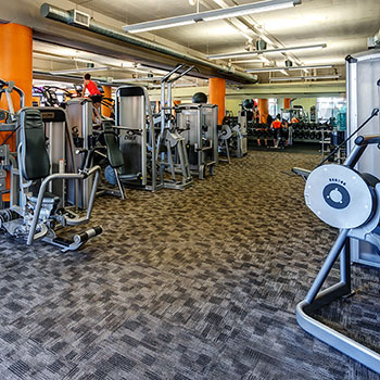Featuring spacious workout rooms in our Denver, Colorado gym.