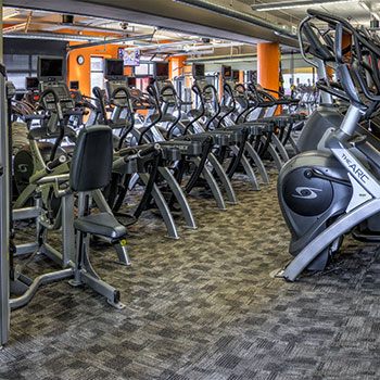 Our facilities include stationary bikes in our Denver, Colorado gym.