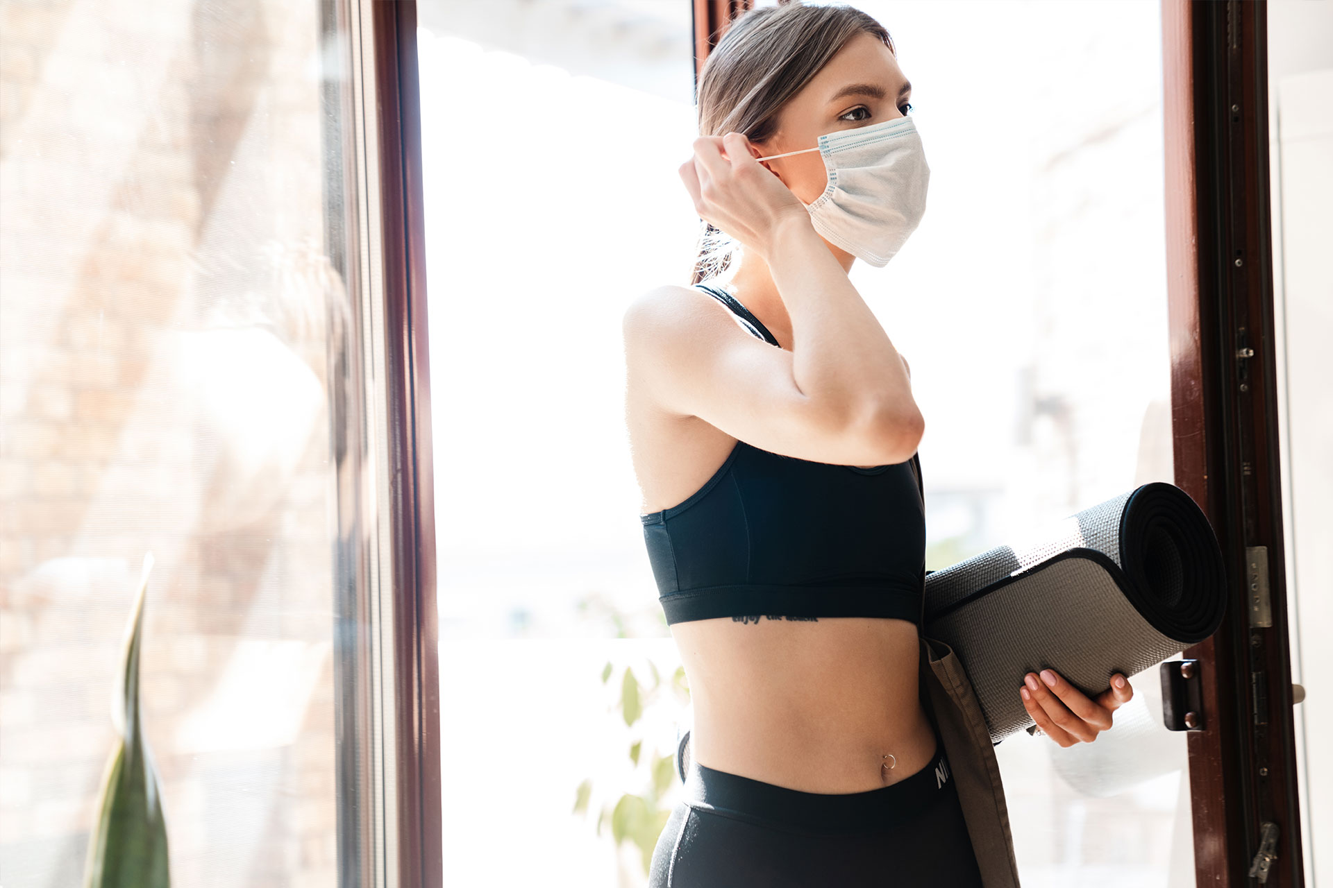 There's no time like the present to get back in gear for your fitness plans. Time to un-mask your abs at LoHi Athletic Club in Denver, Colorado.
